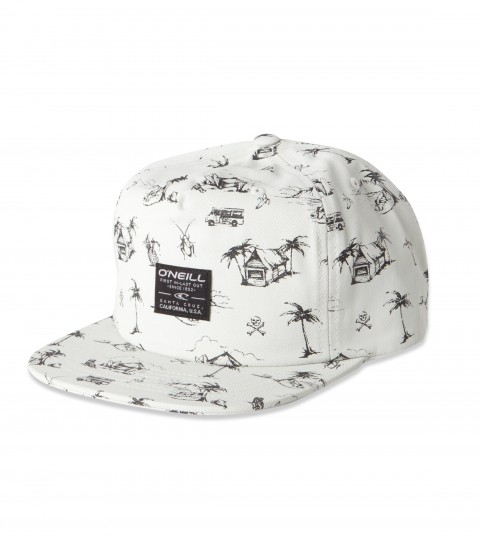 Surf O'Neill Vacay Hat.  Allover print novelty nylon hat; with front panel woven label; rear woven label. - $24.99