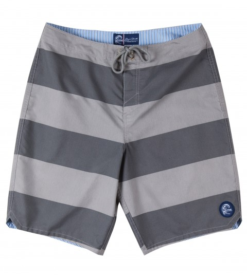 "Surf Jack O'Neill Homage 2 Boardshorts.  55% Cotton / 45% Nylon pigment printed boardshort. Classic stripe pattern in cotton rich fabric with a heavy enzyme wash make this short look and feel like an old favorite. Back welt pocket with fin key and bottle opener.  21"" outseam. - $39.99"