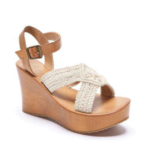 Surf O'Neill Farrah Wedges with faux leather upper with buckle closure; faux leather sock; cork wrapped platform; and sandal bottom outsole. - $36.99
