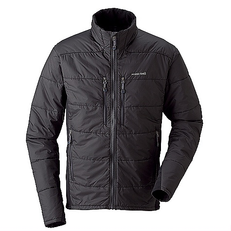 Climbing Free Shipping. MontBell Men's Thermawrap BC Jacket DECENT FEATURES of the MontBell Men's Thermawrap BC Jacket Crimped fiber, woven fabric in.cut on the biasin. to provide 2 way stretch Two zippered chest pockets Zippered and fleece lined hand warmer pockets Stretch side gussets Cut trim for an athletic fit and easy layering Climaplus Mesh lined collar Stuff sack included The SPECS Fabric: Exceloft synthetic insulation, 80 g/m2 (Body) 50g/m2 (Sleeves) 12 denier rip-stop Ballistic Airlight nylon 100-wash rated Polkatex DWR finish Center Back Length: Medium: 28.7in. Weight: 12.8 Compressed: 4.9in. x 9.0in. (stuff sack included) ALL CLIMBING SALES ARE FINAL. This product can only be shipped within the United States. Please don't hate us. We cannot ship MontBell products outside the United States or Canada. Sorry about everything. - $168.95