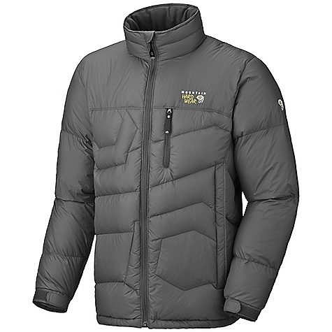 Entertainment On Sale. Free Shipping. Mountain Hardwear Men's Lodown Jacket (Fall 2010) FEATURES of the Men's Lodown Jacket by Mountain Hardwear Insulated with lofty and warm 650-fill goose down Micro-Chamois-lined chin guard prevents zipper chafe Zip handwarmer pockets Zip chest stash pockets Dual hem drawcords seal in warmth Stuff sack included SPECIFICATIONS: Usage: Snowsports Avg Weight: 1 lb. 4 oz. / 575 g. (size large) Center Back Length: 28.5in. / 72 cm. Materials: Body: 30D Micro Taffeta (100% nylon) Insulation: 650-Fill Goose Down - $111.99