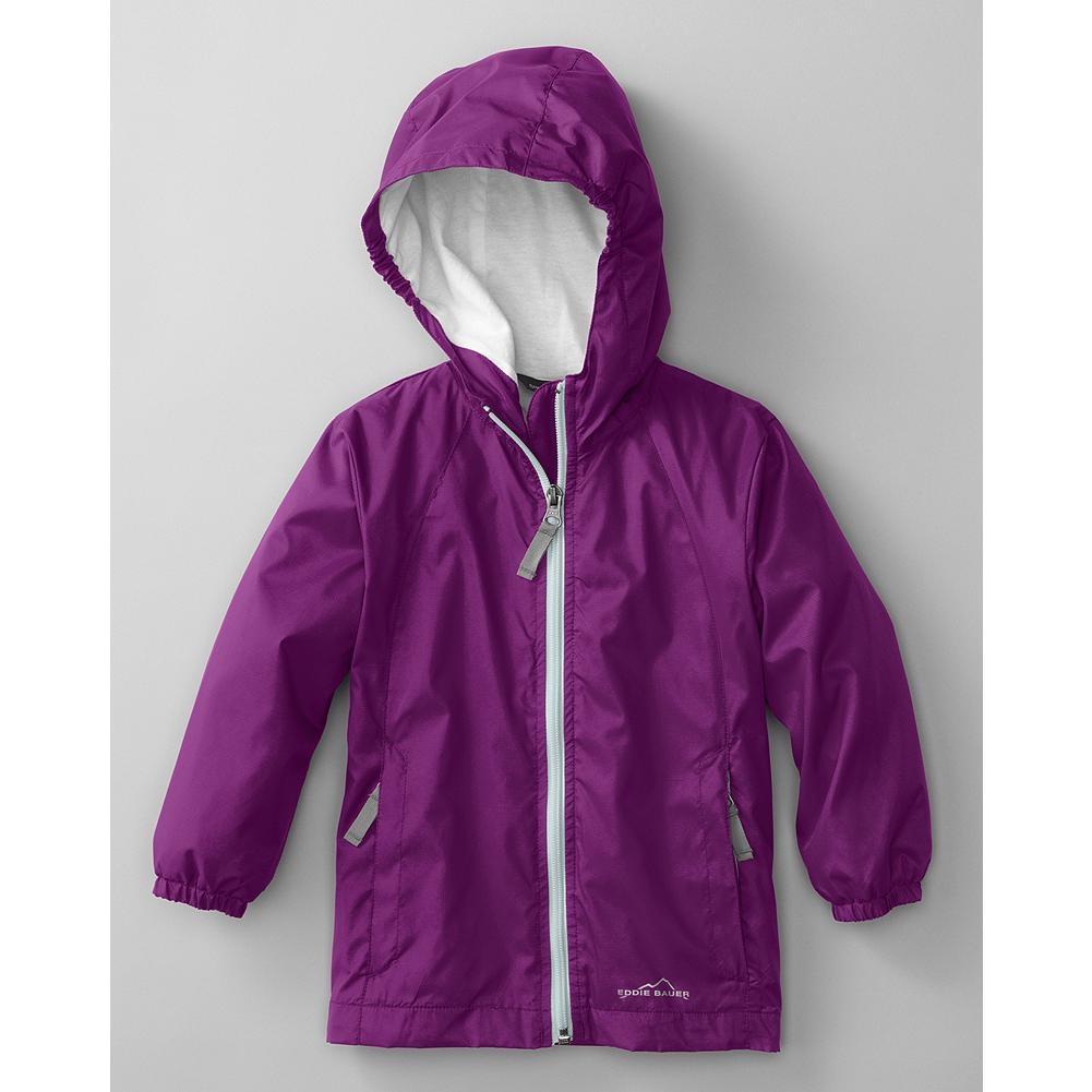 Entertainment Eddie Bauer Toddler Girls' Lined RipPac Wind Jacket - Mountain Guide in Training(TM) Protect little girls from the elements with this hardworking, wind-resistant jacket. Packs down into its own pocket when not in use, so it's easy to keep on hand. - $19.99