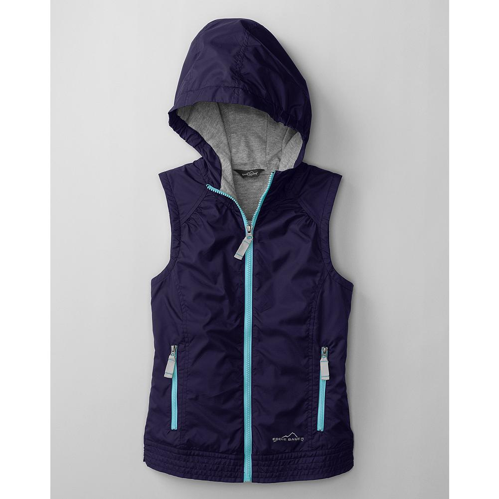 Entertainment Eddie Bauer Girls' Adventurer Vest - Soft, pretty and perfect for layering, our Adventurer Vest keeps her warm with a water-resistant nylon ripstop shell and cozy polyester jersey lining. - $14.99