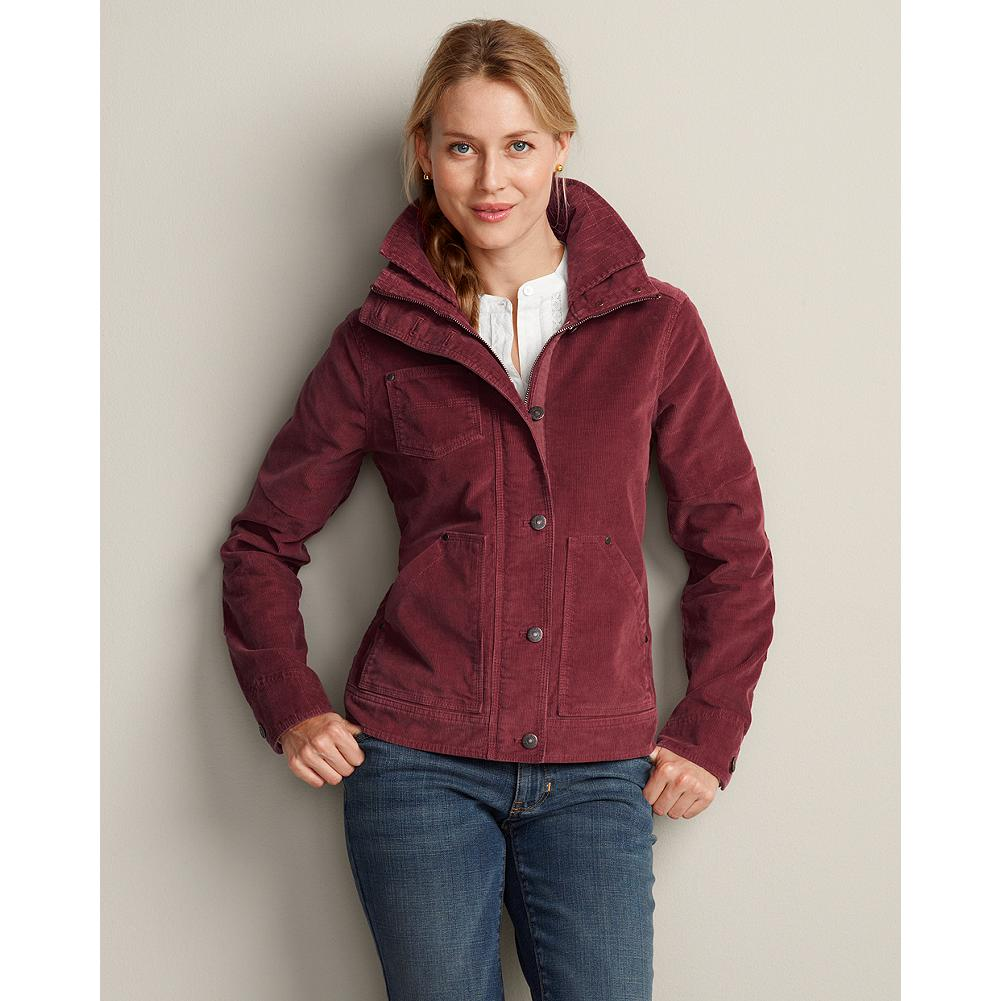 Entertainment Eddie Bauer Cord Workwear Jacket - Inspired by classic workwear, our jacket elevates the comfort factor with our cotton/spandex stretch corduroy. Buckle hem lets you adjust the fit. Double collar construction. - $69.99