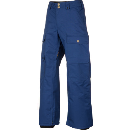 Snowboard It's just you, your snowboard, and your Analog Service Pants versus the park. These slick looking water-resistant pants will take on keeping your butt dry so you'll be free to worry about keeping your butt off the ground when you take on the park. - $114.98