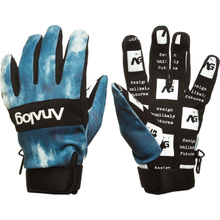 The Analog Avatar Glove is your new go-to for warm-weather laps. Features a durable, water-resistant poly exterior and a silicon palm print for seriously sticky grabs. - $24.72