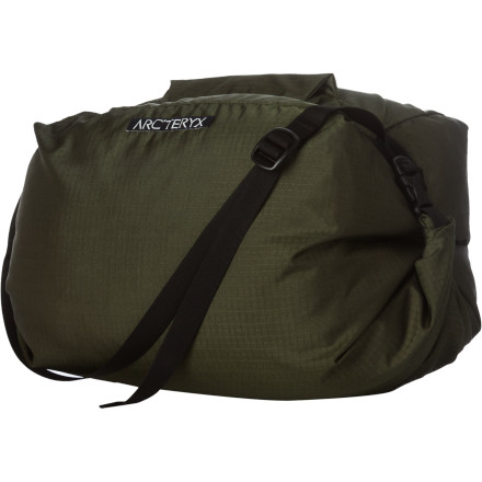 Climbing You already tote your kit in a sleek Arc'teryx pack, so it makes since you'd stash your cord in the Haku Rope Bag. The unique design funnels rope into the bucket for easy packing and the adjustable shoulder strap makes for easy transport. - $68.95