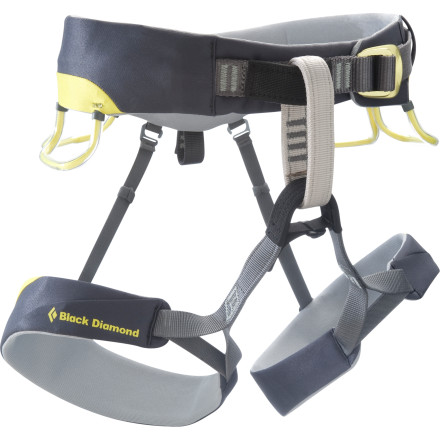 Climbing Trad climbers looking for an ideal blend of functionality and comfort will appreciate the Black Diamond Chaos Harness' low profile and bullhorn-shaped waist, which feature Kinetic Core construction and strands of Vectran spread for weight distribution. - $124.95
