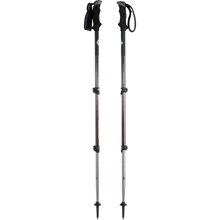 Camp and Hike The Black Diamond Contour Elliptic Carbon Trekking Pole is the (insert luxury automobile brand-name here) of trekking poles. The stiff, lightweight carbon shaft absorbs shock and vibration better than aluminum, and its unique elliptical shape adds fore and aft stability for long hikes with heavy packs. - $164.95
