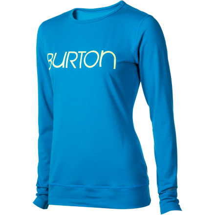 Fitness It doesn't matter if it's a pow day or hoodie weather, you'll be wearing the Burton Women's Midweight Crew. That's because the DryRide Ultrawick fabric wicks moisture and dries quickly to keep you warm, and it's so soft and comfortable you might not take it off after you're done riding. - $33.71