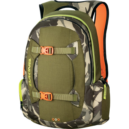 Camp and Hike It's no coincidence that Eric Jackson's first injury-free season in a while resulted in one of the best video parts of the year. To celebrate, DAKINE hooked E-Jack up with a well-deserved signature model of the super-versatile Team Mission 25L Backpack. - $79.95