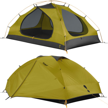 Camp and Hike The Eureka Inntorest 2-Person 3-Season Tent has you covered while you camp or backpack in the Pacific Northwest, which is known for its cool and wet climate. This weather-tight tent features ample headroom and volume so you can easily chill out in your tent during stormy weather with plenty of room for you and your backpacker-in-crime to hang. - $179.90