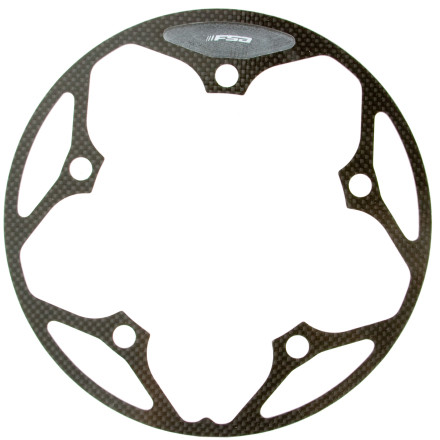 MTB Cyclocross races don't take place on smooth terrain. That's why FSA created the Carbon Cyclocross Chainguard. This five-hole bash-ring keeps you from crushing your chain when you find your bottom bracket to be a bit low, and the carbon construction keeps it nice and light. - $24.74