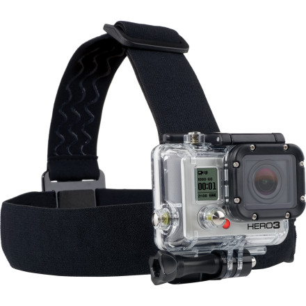 MTB Capture a perfect day of making fresh tracks with the fully adjustable GoPro Head Strap Mount. The mount is compatible with all GoPro cameras, and the nylon straps adjust for a snug fit on every head size.Fully adjustable straps fit every head size Not recommended for high-impact activities - $14.99