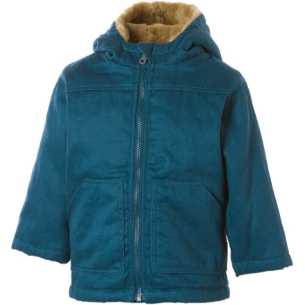 Fitness Keep your little lamb toasty with the Hemp Hoodlamb Junior HoodLamb Jacket. A furry hemp-and-recycled-PET lining traps warmth around your little girl so she can run amok on cold winter days, and the wind- and water-resistant shell wards off bad weather so she stays dry and comfy. - $33.59