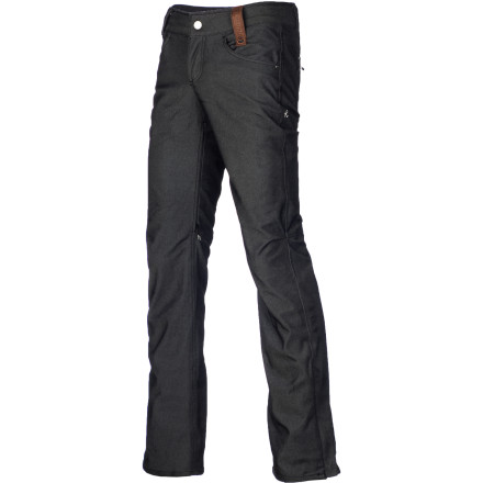 Snowboard What's in a name' Well, a lot. The Holden Women's Standard Denim Skinny Snowboard Pant's name spells it out loud and clearit takes a pair of casual skinny jeans and make them shred-ready. The Standard Skinny features fully taped seams to back up its 10K waterproof rating, and inner thigh vents, reinforced hems, and on-the-go waist adjustment provide the icing on the cake. - $119.97
