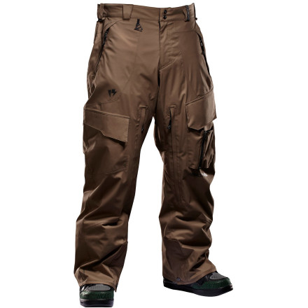 Snowboard Stay dry and comfortable on the hike up the mountain in the Homeschool ReRevolver Men's Snowboard Pant. Continuum 2.5-layer fabric is 30K-rated for breathability so you don't get bogged down with sweat when you're huffing it to the peak, and it's tough enough to survive a long season away from the convenience of chairlifts. - $71.98