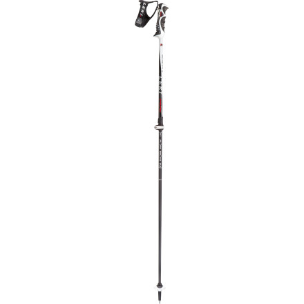 Ski Game for long tours in the backcountry, or just fun days in-bounds the lightweight, fully adjustable Leki Peak Vario S Ski Pole wants to be your new favorite ski-day partner. Leki's Speedlock system makes for easy on-the-fly pole adjustment, and the de-tachable, spring-loaded hand straps protect your arms and shoulders in the even of a fall. - $139.95