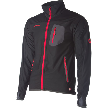Ski The Mammut Brisk Softshell Jacket with WindStopper is windproof and breathable. This light-weight jacket will block alpine gusts while remaining breathable, which means you can enjoy your climbs, ski tours, or snowshoe treks without freezing. The stretchy material allows for freedom of movement to place your next cam. Vented underarms assist with the breathability if things heat up on the big walls. - $132.26