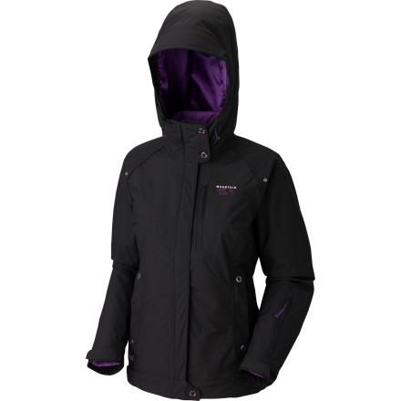 Ski Be prepared for everything with the Mountain Hardwear Women's Snowburst Trifecta Jacket. Featuring a breathable and waterproof Dry Q Core shell and a zip-in puffy liner with Thermic Micro insulation, this jacket-and-liner combo is versatile enough for a complete range of winter weather conditions. Wear both together on extra chilly days, just the shell on mild ski days, or zip-out the liner for a lightweight puffy at the aprs scene. - $192.47