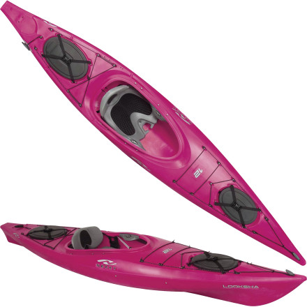 Kayak and Canoe Hit the open water in the super-stable, easy-handling Necky Looksha 12 SI Kayak, built for small-to-medium build paddlers. With its shorter, narrower hull, it fits kids and folks with lighter frames but delivers the same superior tracking and gliding as the other Looksha boats. A soft, ventilated Active Comfort System seat lets you customize every aspect, from thigh and lumbar support to backrest angle, for marathon fun. Carry a full load in the dual hatches, float through rough water, and tour from sea to sea in a boat built just for you. - $1,049.99