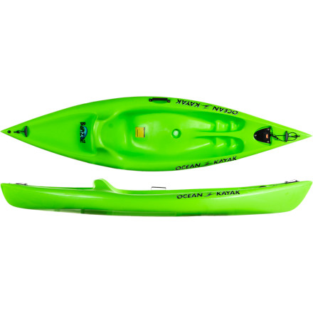 Kayak and Canoe Fun is the name of the game for the Ocean Kayak Banzai Sit-On-Top Kayak. This boat is easy to paddle, it's light enough for a child to pull or drag onto the beach, and it's highly durable so it's tough to damage. Smooth hull lines make this boat maneuverable and the low, wide cockpit makes it hard to fall out or flip this boat over. Give your kids the gift of fun on the water. - $329.95