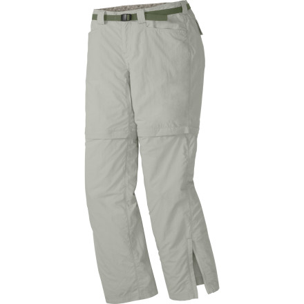 Camp and Hike Stay comfortable through light rain and scorching sun when you head out on trail with the Outdoor Research Womens Solitaire Convertible Pant. - $78.95