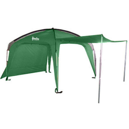 Camp and Hike When you've assembled your crew, your cooler, and the carmada for a day on the beach or in the country, don't forget to pack the Paha Que Cottonwood 10 x 10ft XLT with Awnings. With a few folding chairs and a card table, the under-the-awning-club is born and is instantly the social center of a fun day in the outdoors. Plus, it's way better to finish a weekend with more stories than sunburn. Included awnings increase your coverage so much that you might even be able to rent space to passers-by. - $279.27