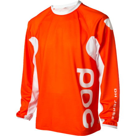 Fitness The POC Mens DH Jersey features a loose cut to fit comfortably over body armor, and mesh inserts to cool things down while you rip lap after lap.Engineered for an optimal fit with POC body protection Sturdy poly mesh fabric resists snags and tears - $99.95