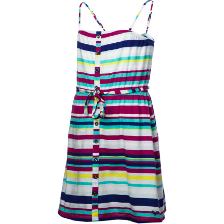 Surf The Roxy Girls' Sparkling Dress gets you all fired up for your friend's picnic birthday party or Sunday brunch outing with the family. Its cute graphics get you tons of compliments, while the Sparkling's comfortable fit puts you at ease when you meet new peeps. - $23.80
