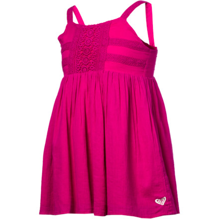 Surf Every surfer-girl needs a pretty party frock, hence the aptly named Roxy Girls' Let's Party Dress, with crochet trims and a flirty A-line skirt. Its simple, crinkly cotton gauze belies its frilly good looks with feel-good function for the celebrations that go on and on. - $24.70