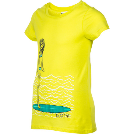 Surf A T-shirt is functional, no doubt about it. And the all-cotton jersey Roxy Girls' Rally Girl T-Shirt is practical, wearable coverage, but also pretty as its surfer-girl picture. Let her express her love of waves and fun in the sun in this super-cute tee. - $18.00