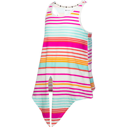 Surf Maybe Roxy named it the Girls' Melt Away Tank Top because worries and cares fade away. With a bright and pretty print and sweet front knot, it's hard to not let everything go and have a happy day at the beach, park, or playground. Or maybe they call it that because in this darling top she's sure to melt your heart. - $18.20