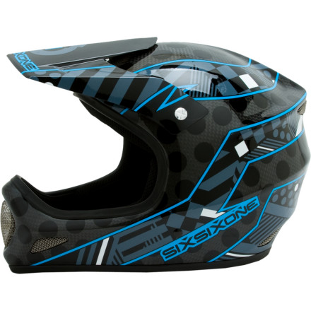 MTB Six Six One built the Evolution Helmet with a blend of carbon fiber and fiberglass to make it incredibly light and still maintain all the strength it needs to keep your head protected. This full-face lid packs both ASTMS and CPSC certifications, not to mention a flow-through venting system that keeps you noggin cool while you ride or race. Six Six One even throws in a crash-replacement policy, so if you do wreck bad enough to split this thing, you get a new one. - $174.99