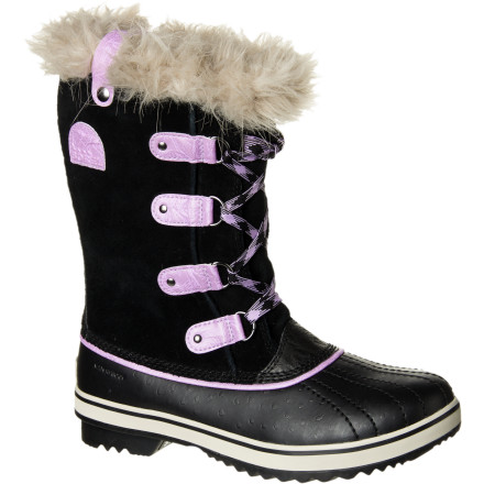 Since your gal constantly sticks her foot into your cozy Sorel boot, look to the Girls' Youth Tofino Boot to satisfy her comfy-boot craving. The Tofino has the comfort and versatility of a sneaker with the protection of a quality Sorel boot so her foot stays protected from ever-changing weather. - $73.47