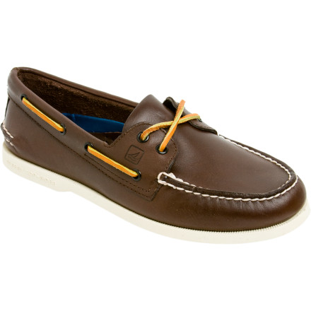 Often imitated, never duplicated could be the tagline for the A/O 2-Eye Loafers from Sperry Top-Sider. Since 1935, these casual boat shoes have been seen on the decks of everything from small row boats to massive cruise ships and all the seaside bars and restaurants in between. - $76.46