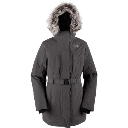 Climbing Winter can be bitter-cold and torrential-downpour wet, which is why you'd like a jacket that can handle both situations. And preferably handle both without making you look like you're about to embark on an ice-climbing journey in Nepal. Welcome to The North Face Women's Brooklyn Down Jacket. - $167.37