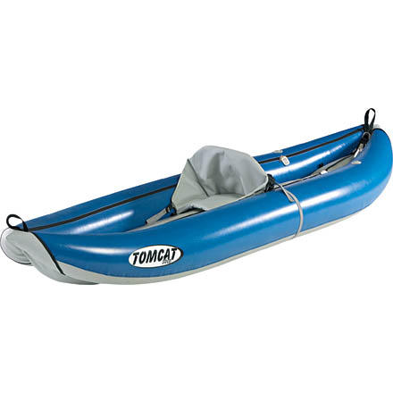 Kayak and Canoe Interested in getting into whitewater kayaking, but don't know where to start' The Tributary Tomcat Solo Inflatable Kayak is a great first step. The Tributary Tomcat is a durable, well-priced, entry-level kayak that will last for many seasons on the river. - $649.95
