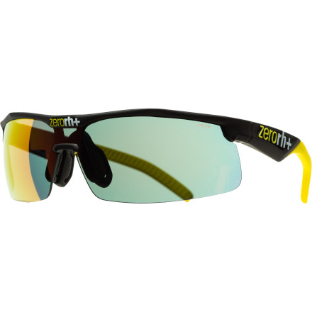 Entertainment Zero RH+ designed Gotha Team Sunglasses to give you full protection from wind, rain, harmful light, flying debris, and tree branches. These cycling-specific glasses come with either yellow or blue-filter lenses, depending on what kind of light you need them for. One thing that the brand Zero RH+ has come to embody, in our eyes, is quality. You can just feel it in a product like Gotha Team Sunglasses. They're tight and well-made. You can feel how sturdy they are, despite their light weight. The Sportgrip TM rubber used on the nose and ear pieces is pliable and grippy. Despite the fact that it isn't adjustable, it's pliable enough that it felt comfortable to everyone who tried them on. During a ride they are comfortable and lightweight enough that you forget you have glasses on at all, and that non-slip rubber really does its job, even after the sweat starts flowing freely. The yellow and blue lenses cover a solid spectrum of light conditions, so you could use either of these lenses as your go-to, everyday lens. Which you choose really comes down to color preference. The blue lens is a bit lighter, so it would work best in low or flat light conditions to really make terrain variations pop out. Zero RH+ Gotha Team Sunglasses look best on folks with medium to large faces, they are available in Shiny White/Yellow, Shiny Yellow/Yellow, Matte Black/Yellow, Shiny Black/Blue, and Shiny Red/Yellow. - $83.95