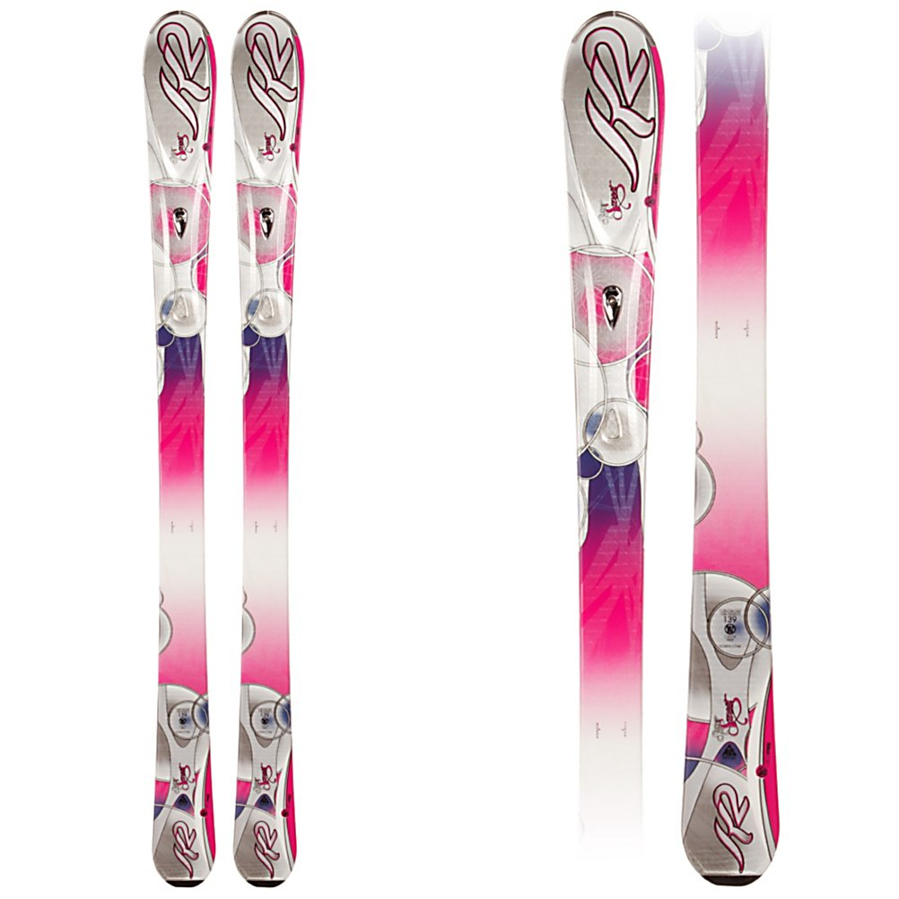 Ski K2 SuperSweet Womens Skis with Marker/K2 ER3 10.0 Bindings - The new and improved SuperSweet is a lightweight forgiving ski for the beginner who wants to improve quickly or the young lady who has been skiing for a few years, that is ready for her first adult system ski. K2's Catch Free Rocker is slight rocker in the tip and tail. Tip rocker helps you initiate a turn quicker by engaging the edge easier. It also helps absorb some of the negative energy that can a mass on the busy groomers. Rocker in the tail helps you release the ski out of a turn with out grabbing the snow. The Catch Free Rocker will get you to carving turns, instead of skidding them. The MOD technology absorbs vibrations and impact along the entire edge of the ski, and adds strength without affecting the flex of the ski. The MOD Monic chip is a focus mass dampening system that smoothes out the ride of the SuperSweet the faster you push her. The K2/Marker ER3 Demo plate is lighter, lower and wider this season providing faster, and easier energy transfer between the binding and the ski. The K2 Super Sweets torsion box, polyurethane cap construction is lightweight and forgiving so you can improve your skis and confidence with out the ski being too overbearing. A great ski for the beginner that wants to improve as rapidly as slides her way down the greens and blues. . Tip/Waist/Tail Widths: 118/74/103 (@ 160cm), Actual Turn Radius @ Specified Length: 14m (@ 160cm), Warranty: One Year, Type: All-Mountain Skis (75-90), Gender: Womens, What Binding is Included?: Marker/K2 ER3 - $349.99