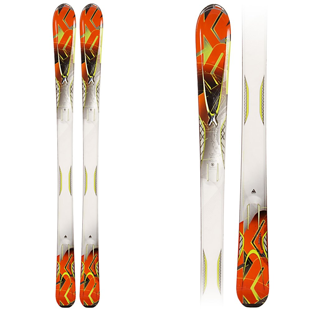 Ski K2 A.M.P. Impact Skis - The K2 A.M.P. Impact Skis are designed for the advanced intermediate skier itching to get on the mountain when the snow falls. This new ski has K2's All Terrain Rocker (rocker in the tip with camber underfoot), and an 80mm waist. Tip rocker helps the ski plane on top of powder, engage the edge quicker on the groomers, and deflect the negative energy that is caused by bumps and crud. Hybritech sidewalls, and a progressive Sidecut ensure that when the snow is firm or icy you have a solid grip on things. A Triaxial braid, and Carbon Web give the Impact torsional rigidity without adding extra weight. MOD and MOD Monic technology smooth out the ride, and reduce vibrations so the Impact can go any where, on piste or off. The Impact is a great value for the advanced intermediate who will like to do it all groomers, trees, powder and bumps, grab one of these new skis today while supplies last. . Skill Range: Intermediate - Advanced, Model Year: 2012, Product ID: 306242, Shipping Restriction: This item is not available for shipment outside of the United States., Ski Gear Intended Use: All Mountain, Waist Width: 76-85mm, Turn Radius: 16-20, Titanium: No, Used: No, Alpine Touring: No, Twin Tip: No, Race: No, Binding Weight Range: N/A, Rocker: Tip Rocker/Camber, Binding DIN: N/A, Bindings Included: No, Special Features: Progressive Sidecut, Special Features: All Terrain Rocker, Tail Profile: Flared, Base Material: Sintered, Core Material: Wood w/ Carbon, Construction Type: Cap/Sidewall, - $199.95