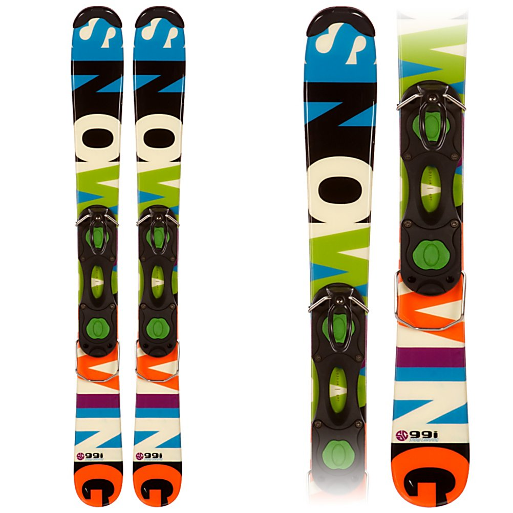 Ski Snowcarve 99i Ski Boards - A cool new way to experience the mountain when the snow begins to fall, the Snowcarve 99i Ski Boards are a fun and new way to go. These ski boards are a smaller version of a full length ski but will allow you to maneuver around easily as you try out some new things. Groomed trails, powder, moguls, even the park and pipe, these ski blades will go all over the mountain. The wood core design will give you the stability you desire and stellar edge grip to initiate and make those turns. Experience riding on the mountain in a whole different way and have fun on these cool new Snowcarve 99i Ski Boards. . Snowblades: Yes, Skill Range: Beginner - Advanced Intermediate, Product ID: 304066 - $99.95