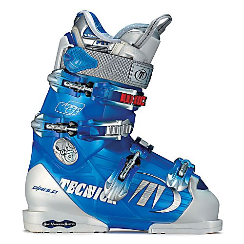 Ski Tecnica Attiva Flame UltraFit '07 Womens Ski Boots - These 07' Attiva Flame boots from Tecnica come with all of the latest technology. They are equipped with three density technology that places hard/medium/soft material at key points on the boot for different positive reactions. The Attiva's come with a dual pivot point that is proven to increase performance and comfort, flex adjustment for simple yet effective two position flex that offers personalization and versatility quickly and easily. Not only that but this boot also is designed with the UltraFit liner that has a soft outside ethafoam that conforms to the shell, THV material enlarged all around the food, Thermoformable pre-molded EVA, a Neoprene toe box, Heel Fit Lock and Outside Memory Foam. Overall the Attiva's come with a hot, sleek design for the 07' year but have Tecnica's technology to back it up. Features: Tongue Handle Pull Strap, 3 Density Technology, Rapid Access, Dual Pivot, Attiva Heel Cradle. Lining Material: Attiva Velvet, Actual Flex: 80, Cuff Alignment: Dual, Warranty: One Year, Gender: Womens, Special Features: Rapid Access Cuff, Type of Boot: High Performance, Width: Narrow (95-99mm), Shell Material: Polyurethane, Buckle Count/Type/Material: 4/Micro Adjustable, Features: Twin Support System, Special Features: Twin Support System, Flex: Medium, Race: No, Used: No, Ski/Walk: No, Prewired For Heat: No, Number of Micro Buckles: Four, Freestyle: No, Sidecountry: No, Forefoot Width: 99mm, Flex Adjustment: Yes, Buckle Count: 4, Buckle Material: Aluminum, Cate - $99.95