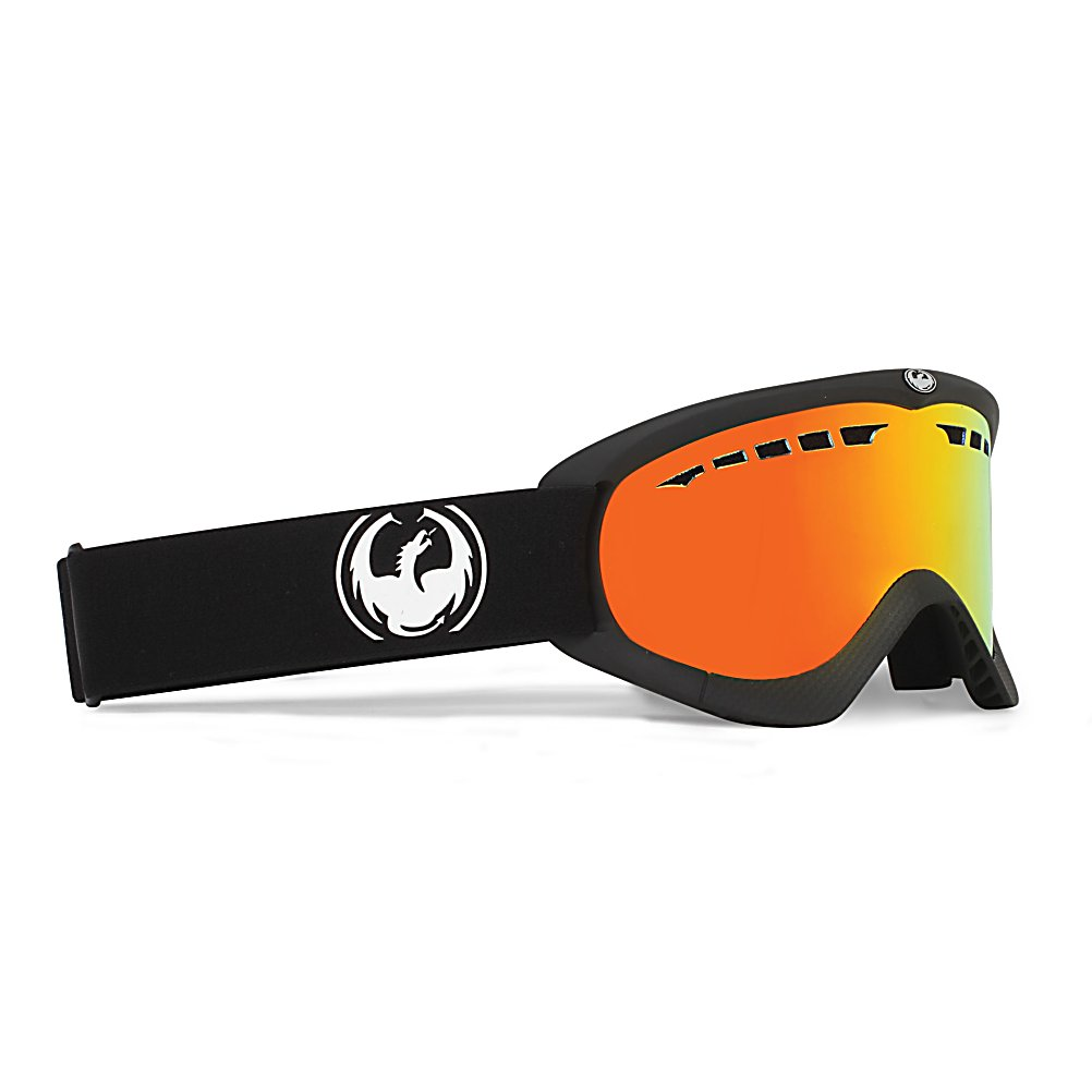 Ski Dragon DXS Goggles - Get cooking with Dragon DXS Goggles. DXS features Dragon's Super Anti-Fog technology straight from NASA. After all, nothing matters more than fog prevention when it comes to goggles. Constructed from polyurethane, the frame is built for durability through all temperatures. Dual layer face foam fits your face like a glove to lock out the elements. Micro Fleece Lining keeps your face dry and happy while you shred. Replaceable straps mean you can change the straps like you change your underwear. Dragon DXS is also helmet compatible so they'll stay stuck on your helmet while your brain stays stuck in your bucket. Finger licking good! Features: Replaceable Strap. Race: No, Category: Adult, OTG: No, Comes w/ Case: No, Fog Fan: No, Frame Size: Small, Spherical Lens: Yes, Polarized: No, Photochromatic: No, Rubberized Strap: No, Helmet Compatible: Yes, Frame Size: Small, Lens Shape: Flat, Lens Coating: n/a, Has Fan: No, Model Year: 2012, Product ID: 242261, Headphones Included: No - $44.95