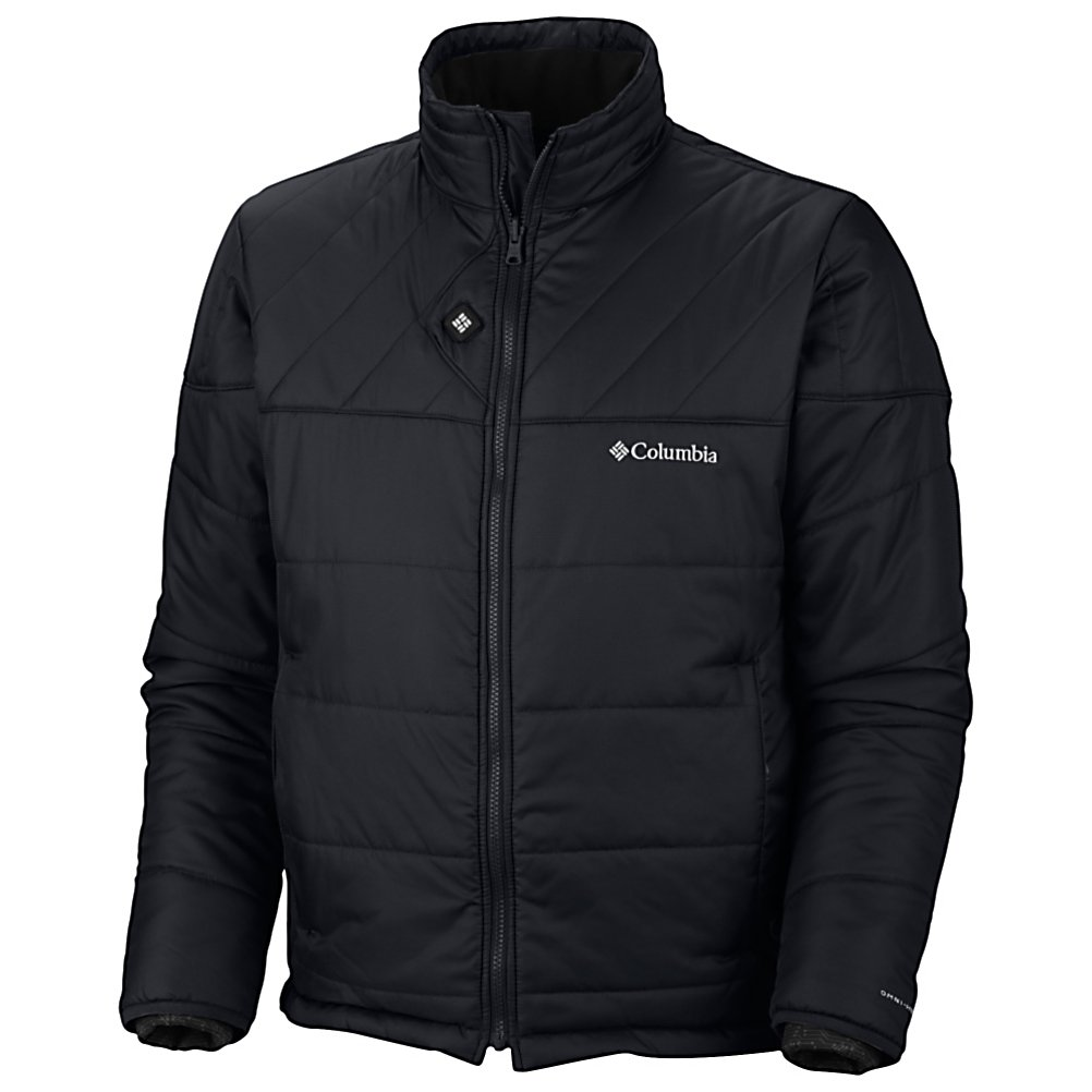 Ski Columbia Electro Amp Mens Insulated Ski Jacket - Designed for the active individual whom is also interested in wearing a stylish, lightweight insulated jacket with the latest technologies to provide warmth and protection from the outside elements, beating the cold temperatures all winter long. This Columbia Electro Amp Insulated Ski Jacket has the Omni-Heat Electric that will increase the heat from your body to keep you warmer due to the little silver dots that reflect your heat back to you to keep you 20% warmer than ordinary linings while also wicking away moisture, keeping you comfortable and dry. The Omni-Shield resists stains and light rain protecting the outer fabric layers as you ski or explore cross country trails. Other features include the draw cord adjustable hem to keep out un-wanted snow, a media pocket, a security pocket and zip closed pockets to keep your items safe, secure and easily accessible. This Electro Amp Jacket is sporty and sleek, and will enhance your experience of the outdoors and your winter outdoor lifestyle. Features: Media pocket, Ideal fit for the active individual, Zip-in and 3-point interchange system, Removable, rechargeable power for hours of warmth. Exterior Material: Polyester mint synthesis DP ripstop, Insulation Weight: 100 Grams, Taped Seams: None, Waterproof Rating: N/A, Breathability Rating: N/A, Hood Type: None, Pit Zip Venting: Yes, Pockets: 4-5, Electronics Pocket: Yes, Goggle Pocket: No, Powder Skirt: No, Hood: No, Warranty: One Year, Use: Ski, Battery Heated: No, Race: No, Typ - $250.00