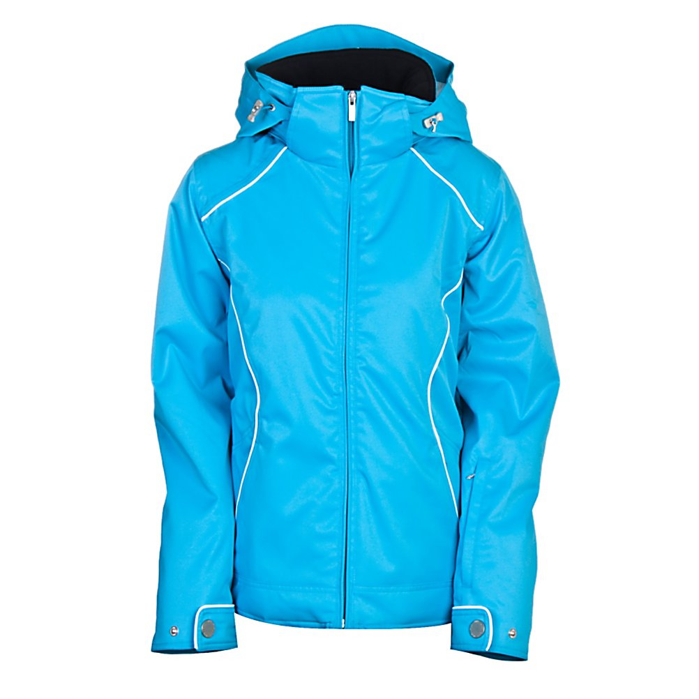 Ski Nils Lilli Womens Insulated Ski Jacket - Typically Nils. The Nils Lilli Insulated Ski Jacket is a beautiful, modern, versatile and a pretty choice of ski outerwear. The Lilli Jacket has mid length coverage and falls at the hip for extreme warmth. The sleek styling is flattering, and because of the jacket's construction, there is warmth without a bulky look. Clothing designed to meet the needs of today's active woman, whose sense of style and performance is uncompromising. The fibers in Thermore all stabilize the moving air, and therefore, keep the heat from traveling out and away from the body. Quilted insulations built into our garments provide exceptional function and breathability. The insulation serves as a layer between the body and the outer protective layer. The function of insulation is to retain the heat generated by the body. The Lilli Jacket has such detailing, a flattering fit, much storage to hold your stuff, quality and performance - that is what makes this jacket so desirable. Features: Critically seam sealed, Internal 9 inch pocket with media center and opening for headphones, Removable hood, Mesh goggle pocket and sunglasses pocket, Powder skirt, Underarm ventilation system, Fleece inside collar, Faux Fur Lining in the Body. Exterior Material: Polyester, Softshell: No, Insulation Weight: 100g, Taped Seams: Critically Taped, Waterproof Rating: 10,000mm, Breathability Rating: 10,000g, Hood Type: Removable, Pit Zip Venting: Yes, Pockets: 4-5, Electronics Pocket: Yes, Goggle Pocket: Yes, Powder Skirt: Y - $144.99