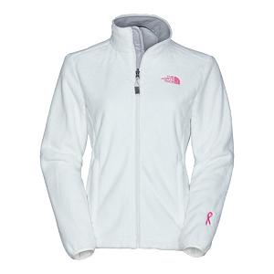 Snowboard The North Face Pink Ribbon Osito Womens Jacket - The North Face Pink Ribbon Osito Womens Jacket is comprised of an incredibly soft, silken fleece, this full zip jacket keeps female explorers warm and comfortable beneath its lavish fabric. Designed to be worn as a causal outer layer in cold weather conditions, sport the Osito Jacket on down-time around base camp, or on romps around town. Snuggle up inside the high-loft warmth of this silky fleece jacket. Brushed collar lining is easy on the neck and durable elastic-bound cuffs with concealable snap closures keep the cold out no matter what the conditions are. A hem cinch cord keeps out drafts. This fleece jacket is zip-in compatible with other The North Face jackets. Boarding for Breast Cancer is a non-profit, youth focused education, awareness and fundraising foundation. Recognizing the importance of this mission, The North Face has teamed up with them to create a unique collection of stylish, high performance fleece and will make an annual donation to help support their journey to educate and inspire young adults. Features: Elastic-bound cuffs, Hem cinch cord. Exterior Material: Silken fleece, Insulation Weight: N/A, Taped Seams: None, Waterproof Rating: N/A, Breathability Rating: N/A, Fleece Weight: Mid, Hood: No, Warranty: Lifetime, Battery Heated: No, Race: No, Type: Fleece, Cut: Regular, Length: Short, Insulation Type: Fleece, Waterproof: None, Breathability: Not Specified, Waterproof Zippers: No, Closure Type: Full Zip Top, Wind Protection: No, Pockets: 1-2, Model Year: 2014, Product ID: 231146, Shipping Restriction: This item is not available for shipment outside of the United States. - $99.00