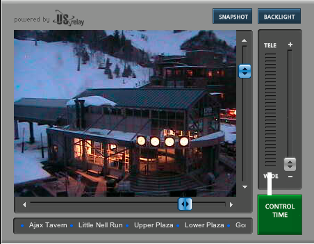 Snowboard It's going to snow tonight! Find out if the flakes are flying by heading over to our user controlled live webcam in Gondola Plaza at Aspen Mountain. 