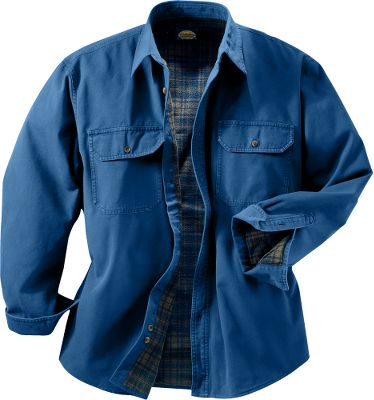 The long-wearing dependability and rugged good looks of our Stonewash Canvas shirts have made them a customer favorite for years. Now you can enjoy everything that has made these shirts a perennial best seller plus the additional warmth of a 4.8-oz. flannel lining. Just like the originals, the outer shell is constructed of wear-resistant, heavyweight cotton canvas that will stand up to years of wash and wear. Imported. Tall sizes: M-5XL. For men 6 to 64. Colors: Buckskin, Sage, Antique Blue, Forest. - $29.88