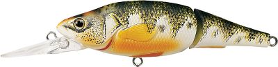 Fishing An excellent choice when casting for bass, walleye, pike and other freshwater species that feed on young perch. This lure has an internal weight-transfer system that makes it easy to cast and suspend. Both models have a low-frequency rattle for added attraction. The lighter, medium-dive model suspend at 3 to 5 feet, the smaller, heavier, deep-dive model suspends at 6 to 8 feet. 2-7/8, 3/8 oz. (medium) and 9/16 oz. (deep). 3-5/8, 3/8 oz. (medium) and 11/16 oz. (deep). Colors: (100)Natural Matte, (102)Metallic Gloss, (103)Fluorescent Matte. Color: Yellow. Type: Crankbaits. - $13.59